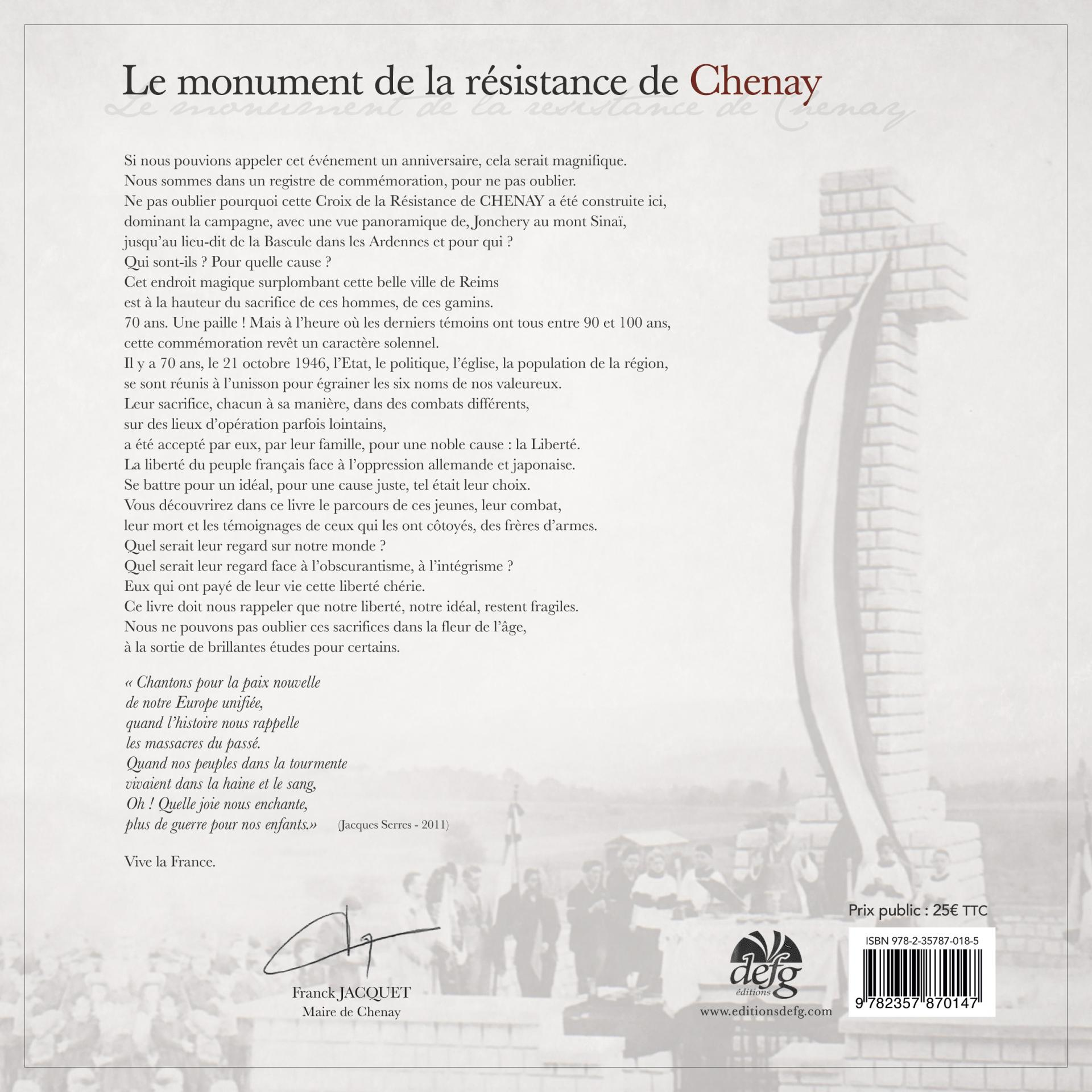 Couverture chenay verso